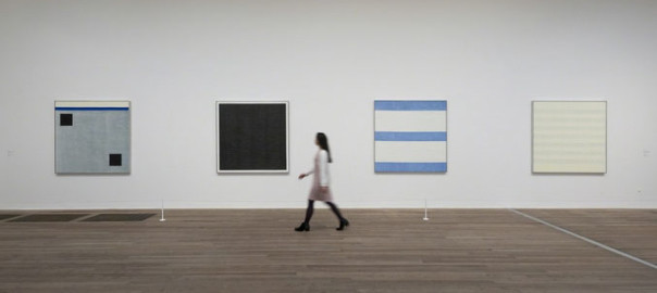 Picture of Agnes Martin exhibition at Tate Modern